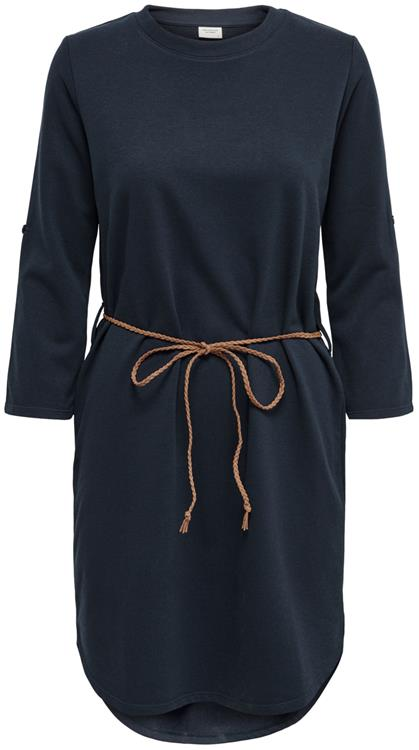 Jdyivy life new 3/4 belt dress Sky captain/Brown fake