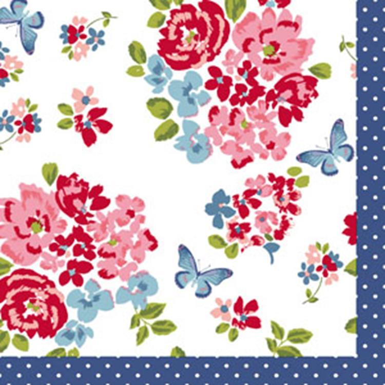 Duni servetten 33x33 cm - sweet roses