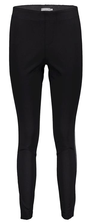 Geisha legging with pu tape Black