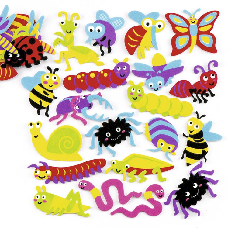 Foam decoratiestickers insecten