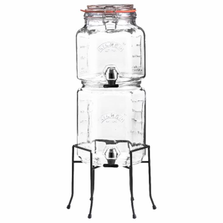 Kilner stapelbare drankdispensers 2 en 3 liter - 2 stuks