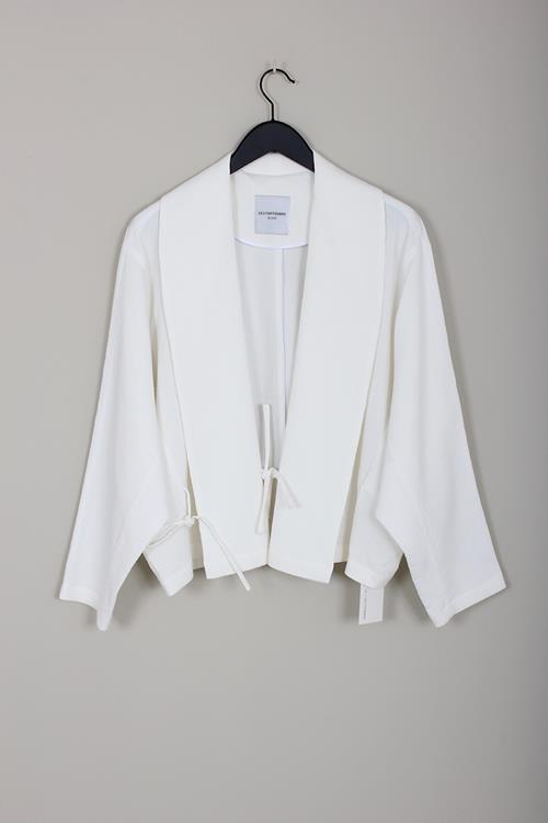 Le 17 Septembre shawl collar cardigan ivory