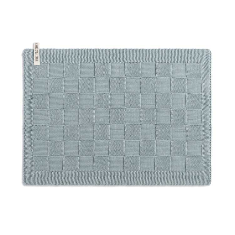 Knit Factory Placemat Uni - stone green