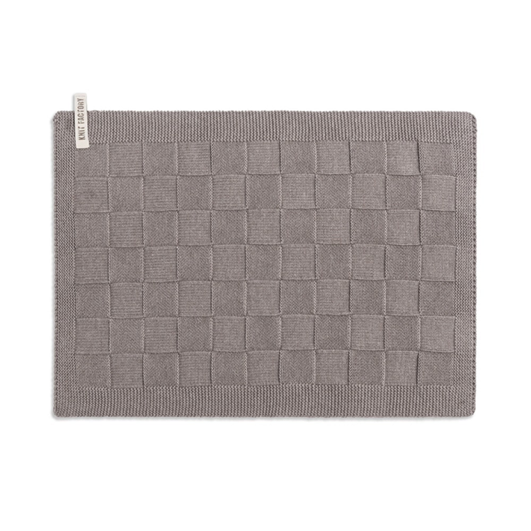 Knit Factory Placemat Uni - taupe