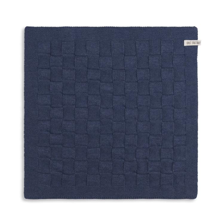 Knit Factory Keukendoek Uni - jeans