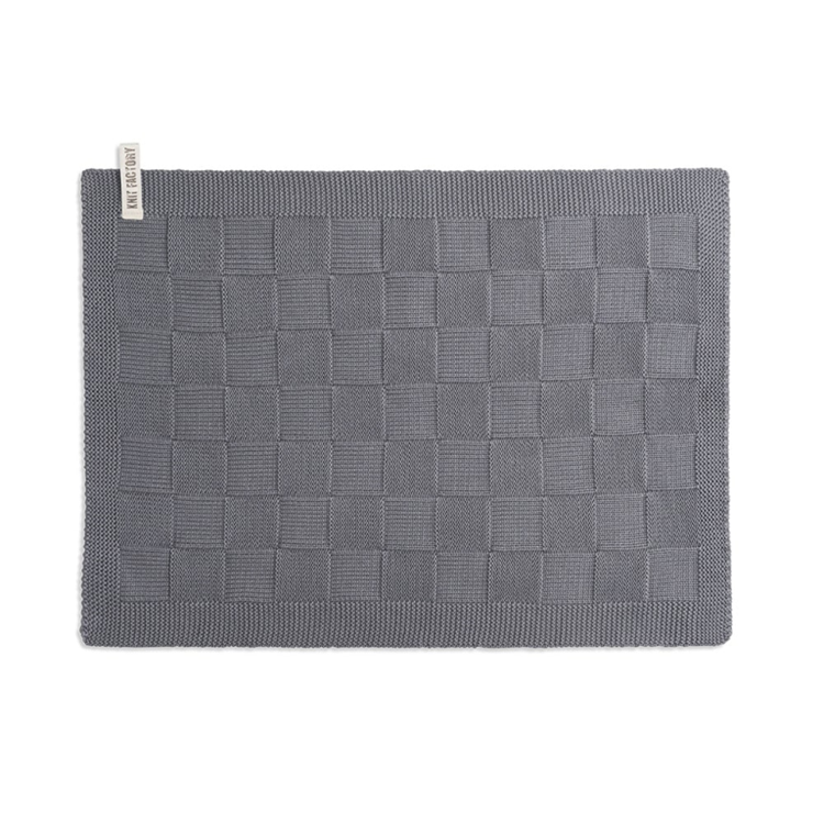 Knit Factory Placemat Uni - med grey