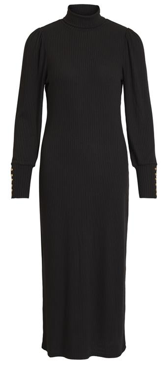 Objkatrina l/s rib dress Black