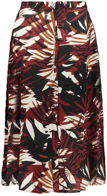 Onllibby midi skirt Burnt henna graphic