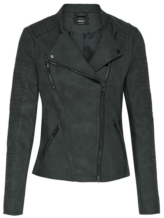 Onlava faux leather biker Black