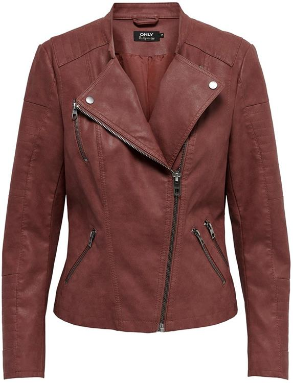 Onlava faux leather biker fired brick