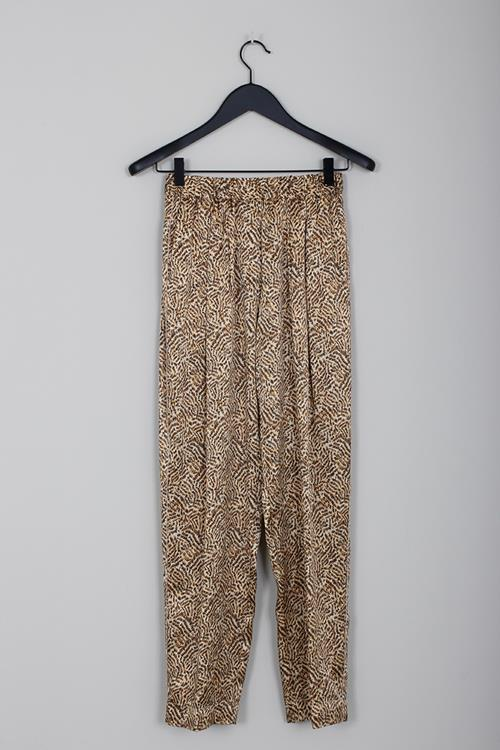 Forte Forte eagle print satin elasticated pants oro