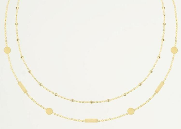 My jewellery double tiny necklace Gold