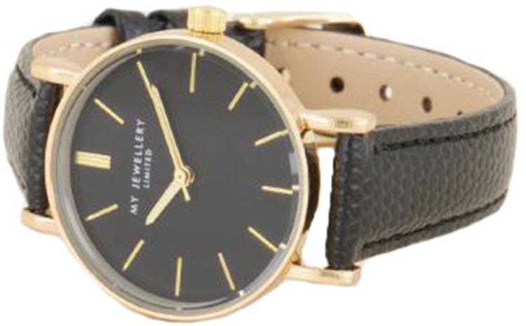 My Jewellery zwart horloge Black/Gold
