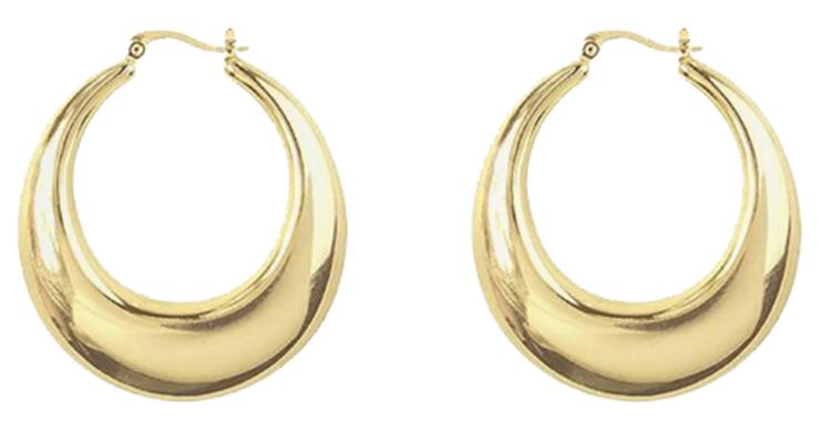 My Jewellery medium statement 70's hoops Gold