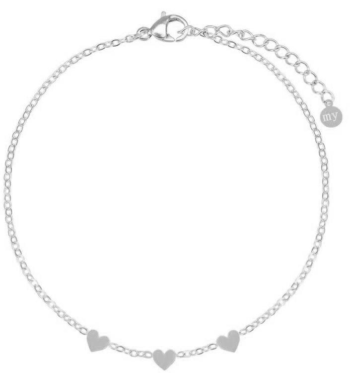 My Jewellery armband met drie hartjes Silver