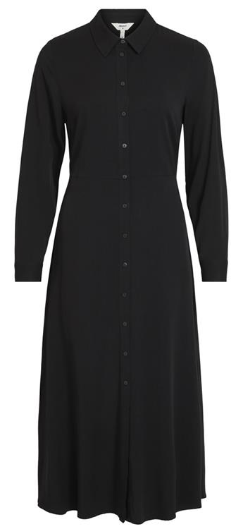 OBJBAYA L/S LONG SHIRT DRESS NOOS Black