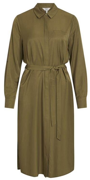 Objeileen l/s shirt dress noos Burnt Olive