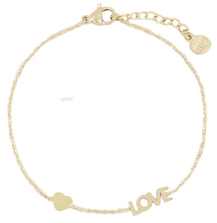 My jewellery armband met love en hartje Gold