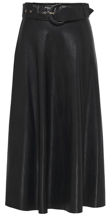 Onqkali faux leather midi skirt Black