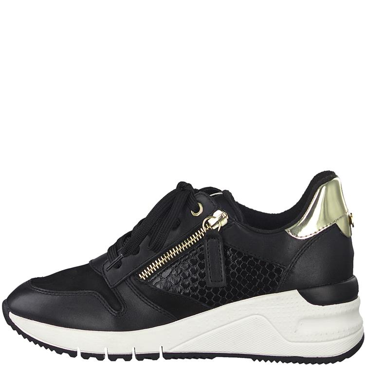 Tamaris sneaker 23702-25 black/gold