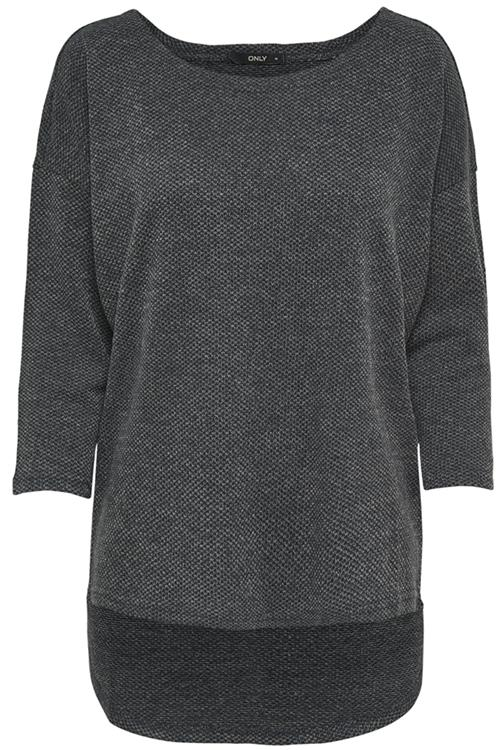 Onlalba 3/4 top Dark grey melange