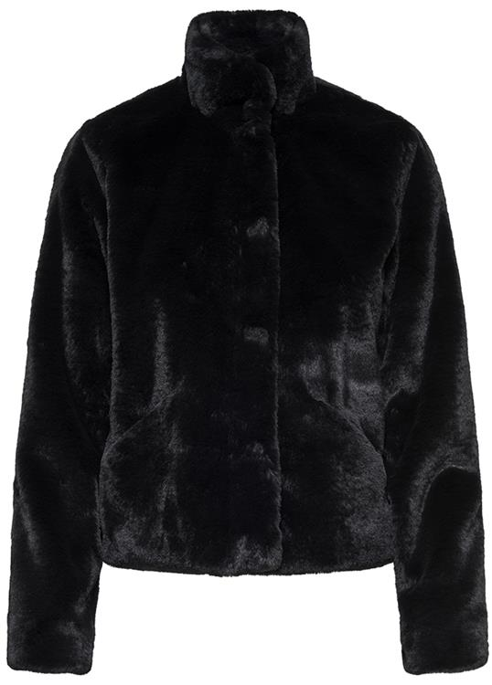 Onlvida faux fur Black