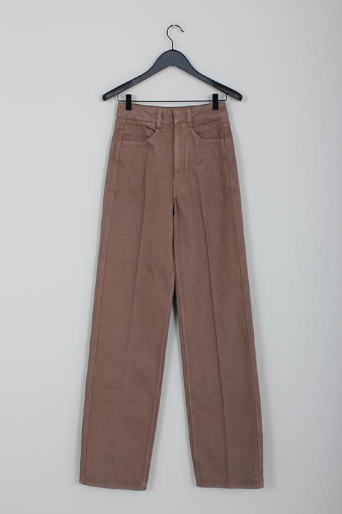 Lemaire denim pants bronze brown