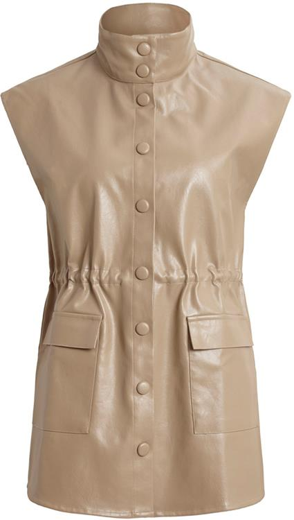 Viamana long vest Dusty camel