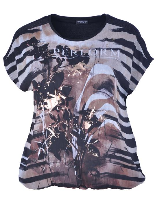 Via Appia Due shirt 840341 Zwart