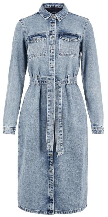 Pcnamir ls denim shirt dress