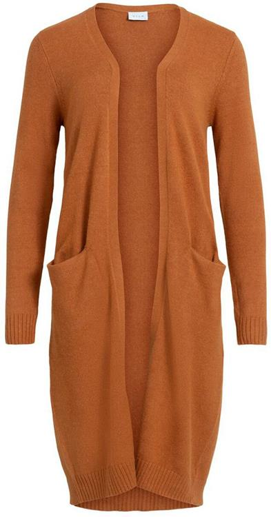 Viril long l/s knit cardigan Pumpkin Spice