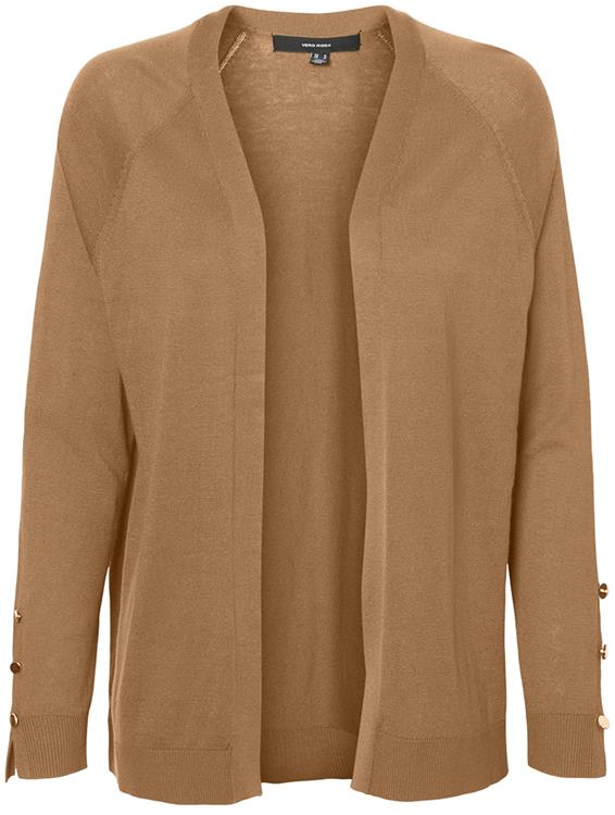 Vmtilda ls short open cardigan Tobacco brown