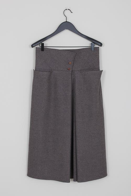 Lemaire pleated skirt deep taupe