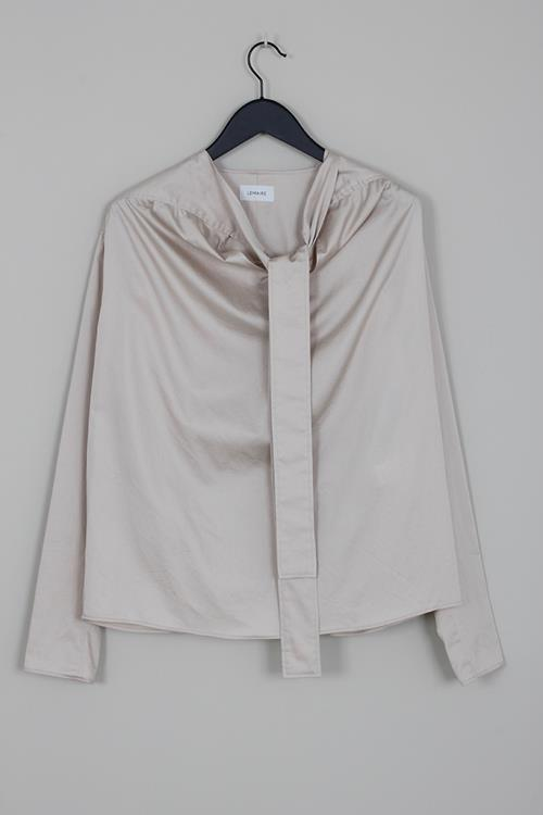 Lemaire blouse with tie oatmeal