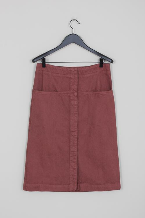 Lemaire straight skirt russet brown