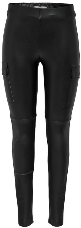 Onlmiri faux leather cargo legging Black