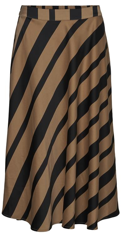 Vmekta hw calf skirt Tan stripes/black