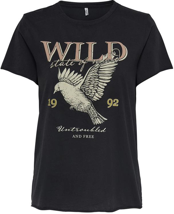 onllucy life reg s/s western top Black/Wild