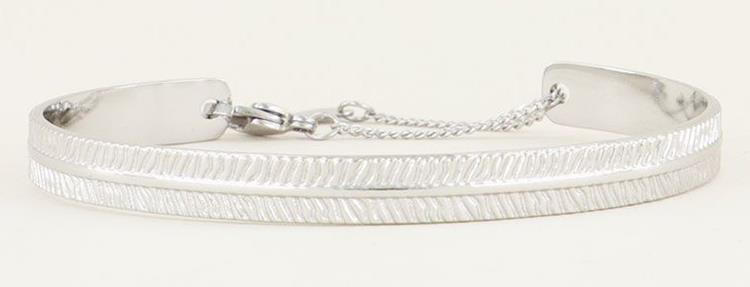 My Jewellery bangle with stripes silver
