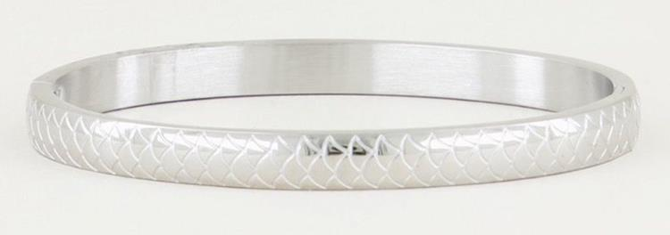 My Jewellery bangle with scales silver