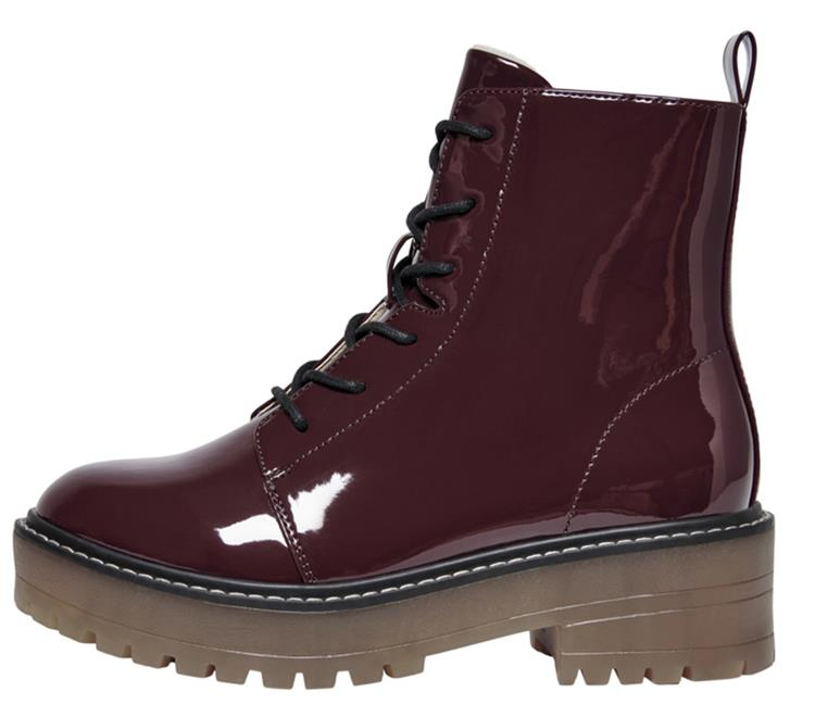 Onlbrandy-6 lace up winter boot Burgundy