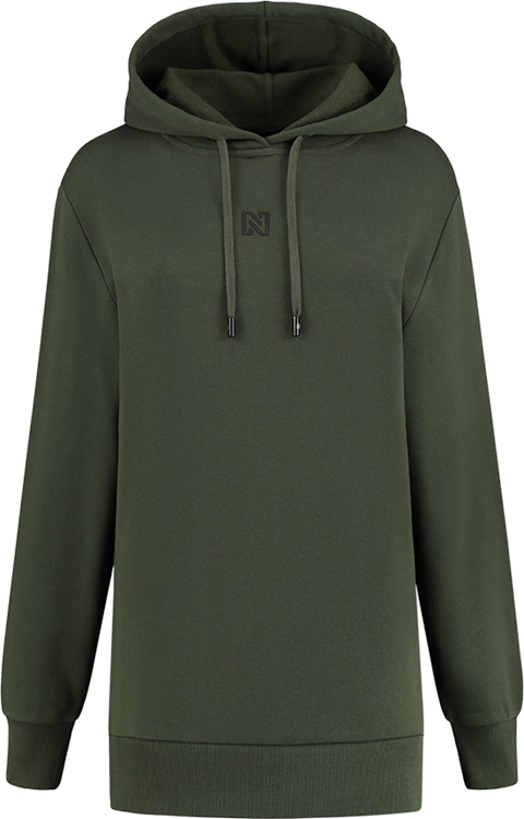 Nikkie round back logo hoodie night forest