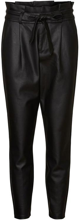 vmeva mr loose paperbag coated pant black