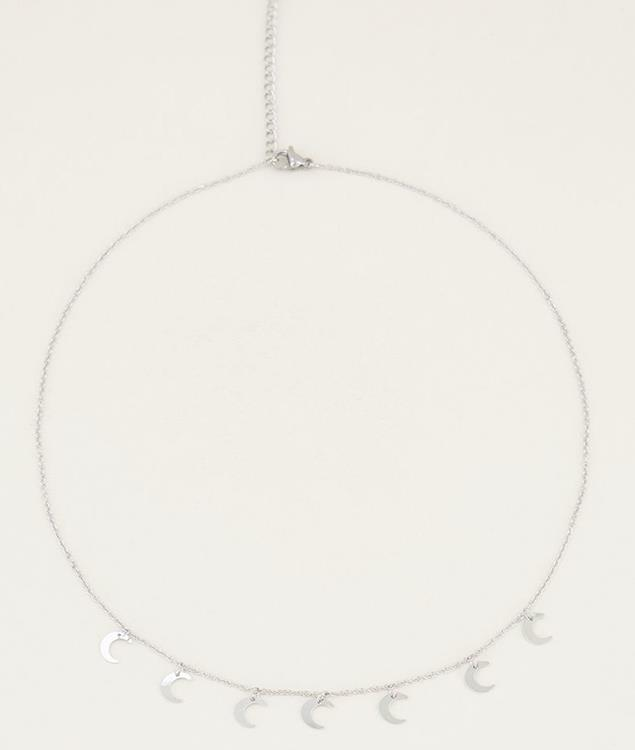 My jewellery necklace with moon silver