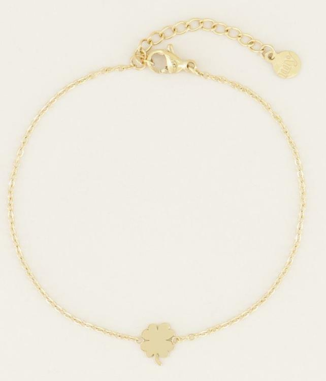 My Jewellery armband with a clover Gold