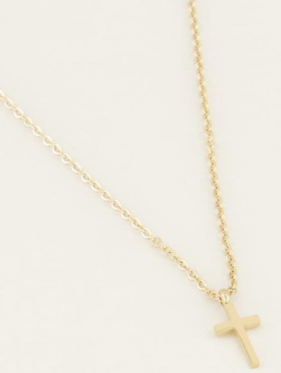 My Jewellery necklace small cross Gold