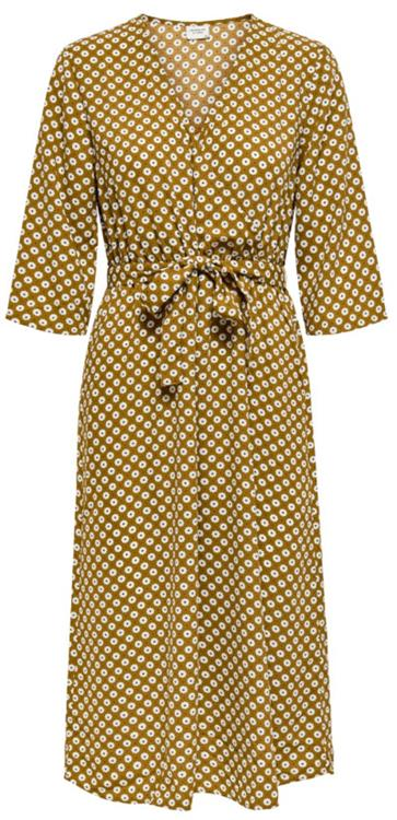 Jdylion 3/4 wrap dress wvn Golden brown/flower