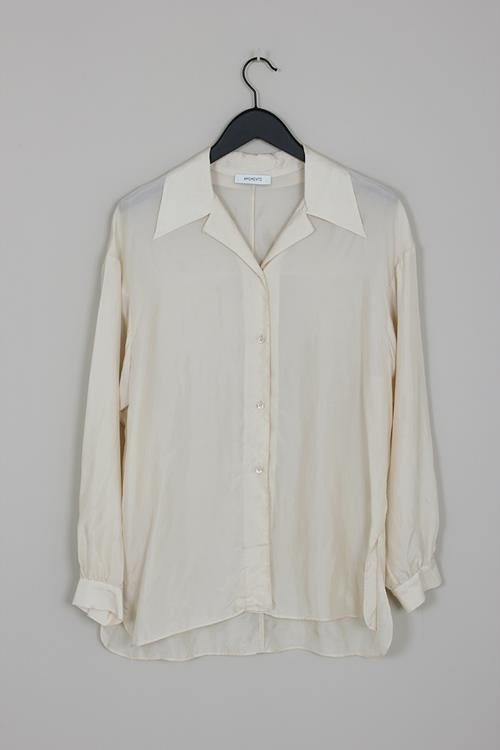 Amomento wide collar blouse ivory