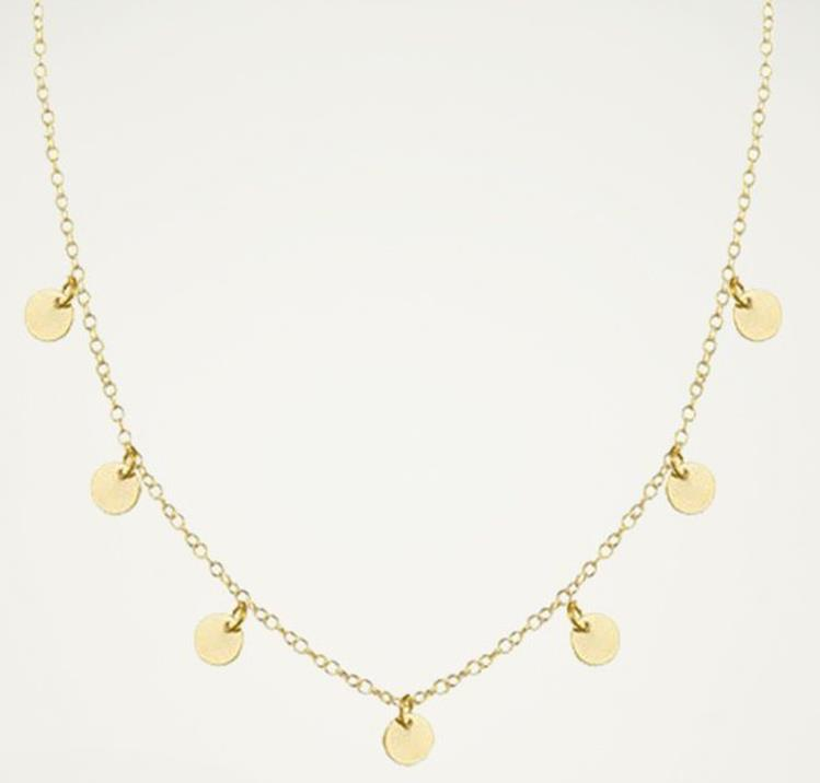 My Jewellery necklace with coins gold