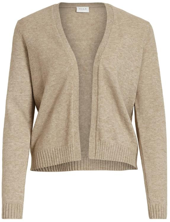 Viril short l/s knit cardigan noos Naturel melange